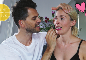 my boyfriend does my make-up